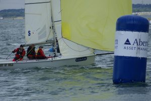 Cowes Week 2011 with James at finish